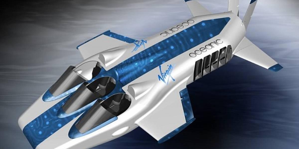 El nuevo juguete de Richard Branson: el avión submarino