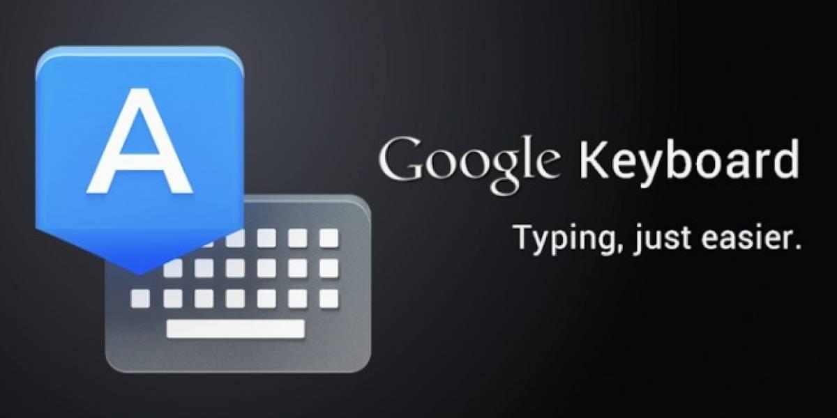 Google ofrece su teclado oficial a modo de app en Google Play