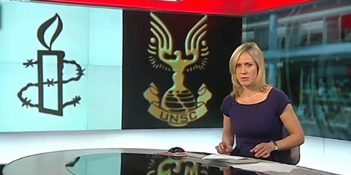 Noticiero de la BBC confunde logo de Naciones Unidas con uno de Halo