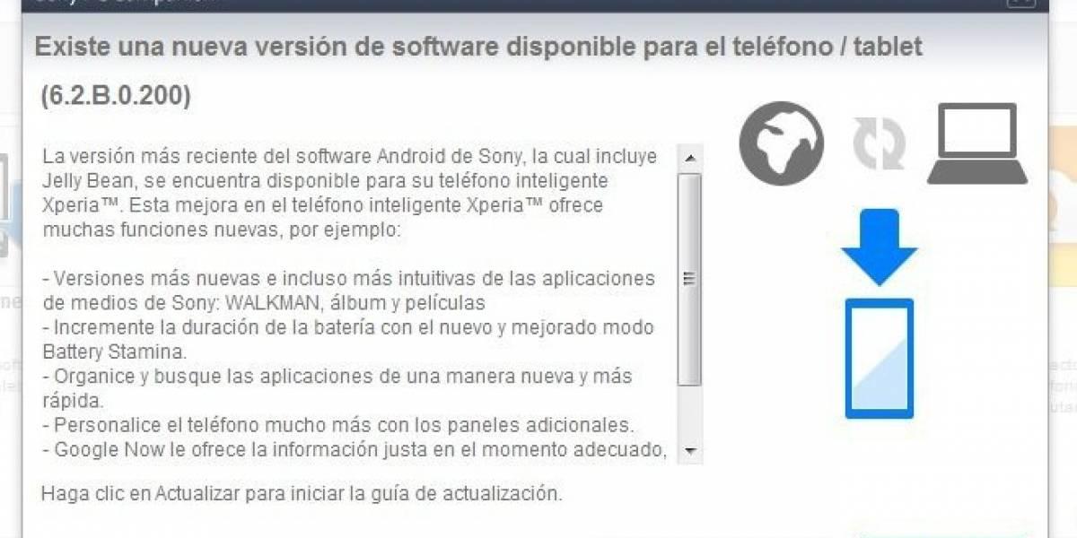 Sony Xperia S comienza finalmente a actualizarse a Android 4.1.2 Jelly Bean