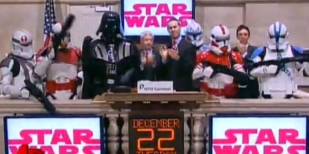 Video: Darth Vader se toma la bolsa de Nueva York