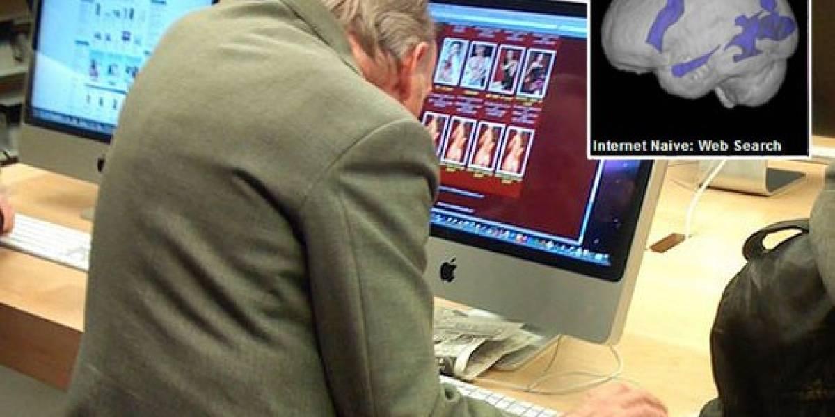 Buscar en Internet es bueno para el cerebro de tu abuelo
