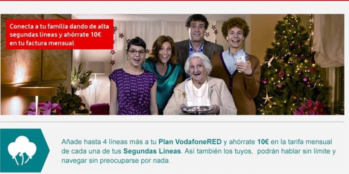 Vodafone RED conecta las líneas de tu familia por mucho menos dinero