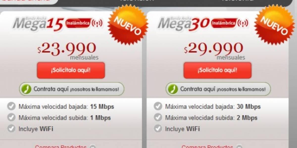 VTR ahora ofrece plan de 30 Mbps en Chile