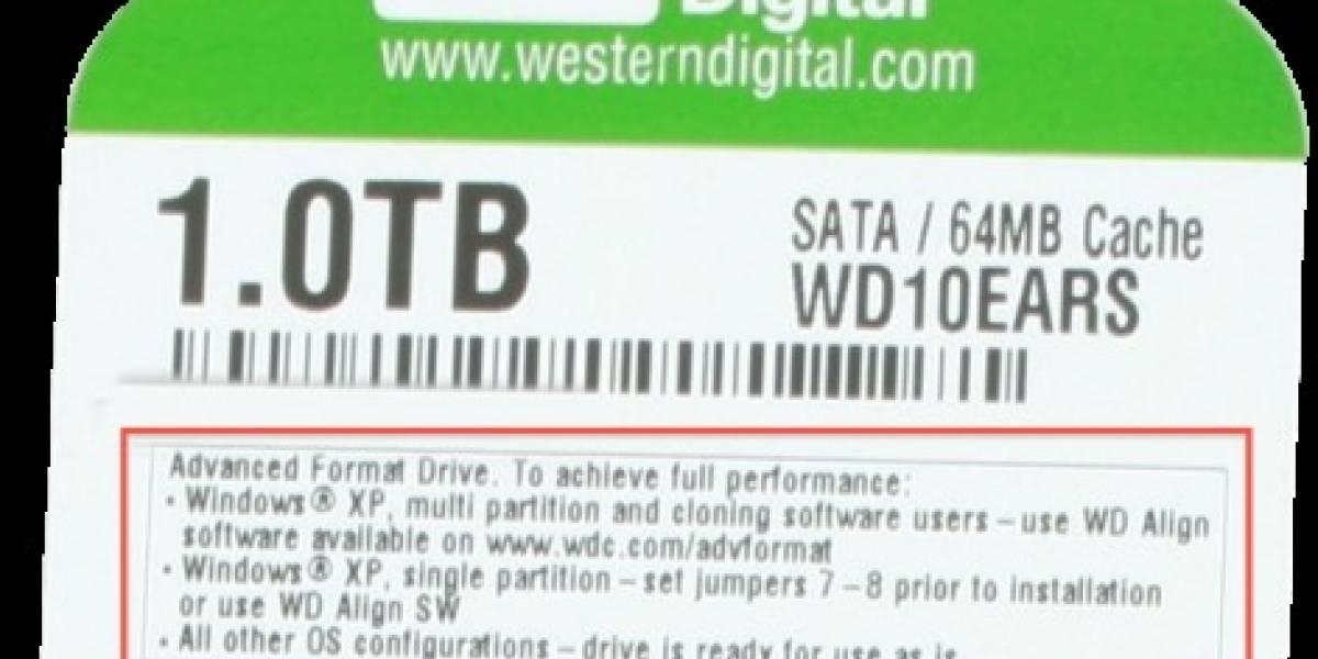 Todos los HDD usaran el Formato avanzado 4k