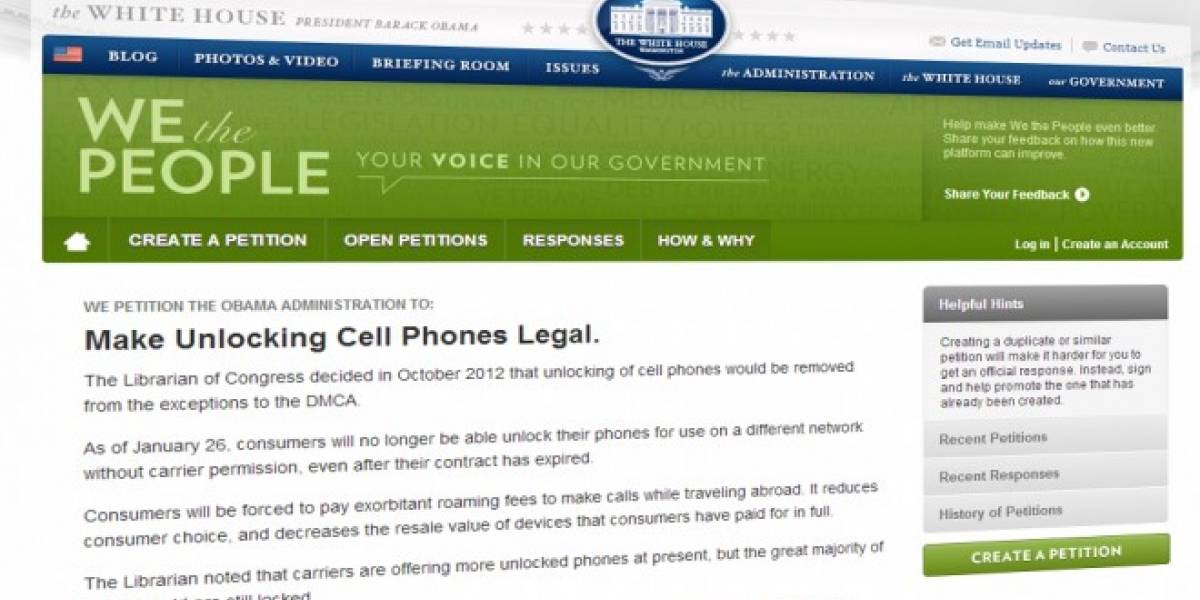 Casa Blanca tendrá que responder petición de legalizar desbloqueo de teléfonos en Estados Unidos