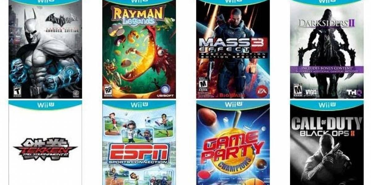 Nintendo revela los juegos que estarán disponibles para el lanzamiento de la Wii U