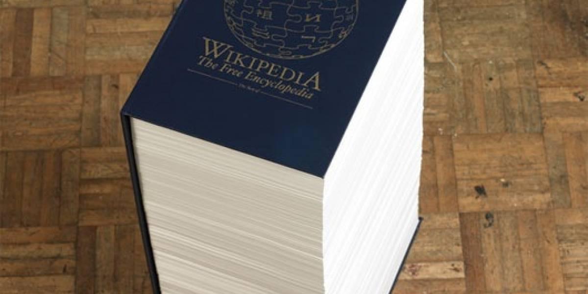 Estudiante imprime el 0,01% de Wikipedia