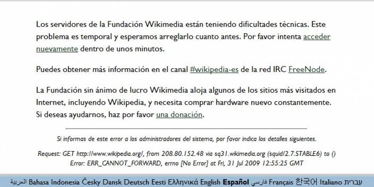 Dificultades técnicas en Wikipedia