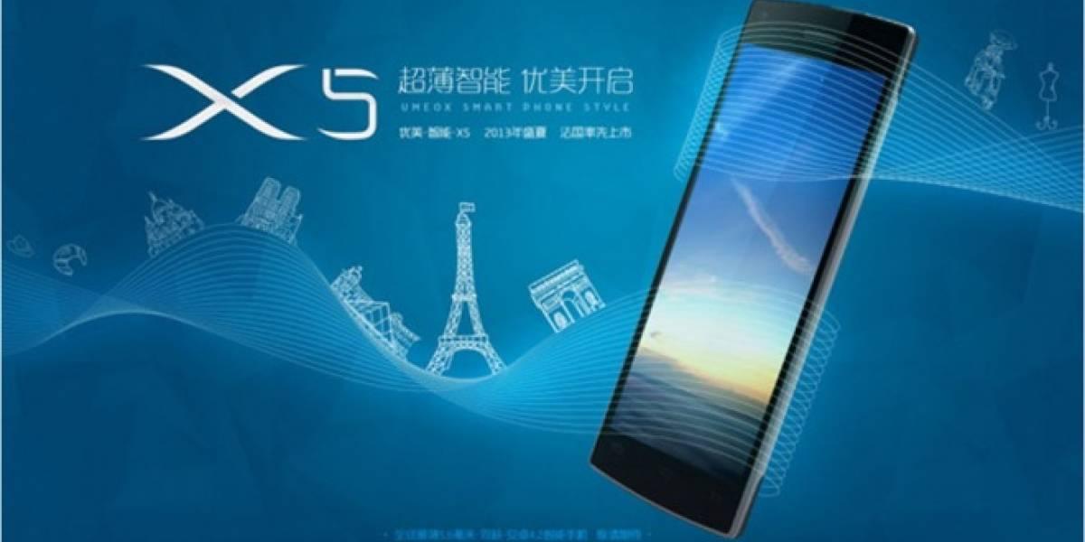Nuevo Umeox X5, el Smartphone más delgado del mundo hasta el momento