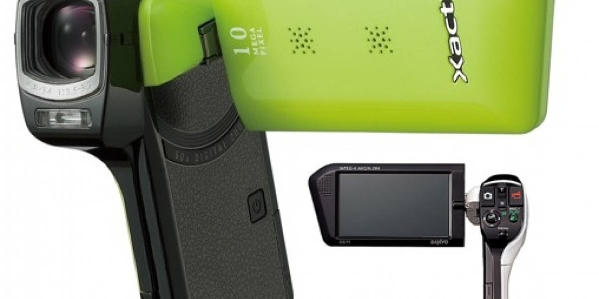 Sanyo Xacti DMX-CG11: Cámara de video con grabación a 720p y soporte Eye-Fi