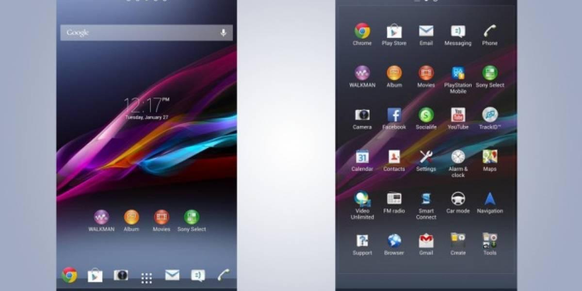 Aparecen capturas del Xperia Z Ultra mostrando una nueva pantalla de inicio