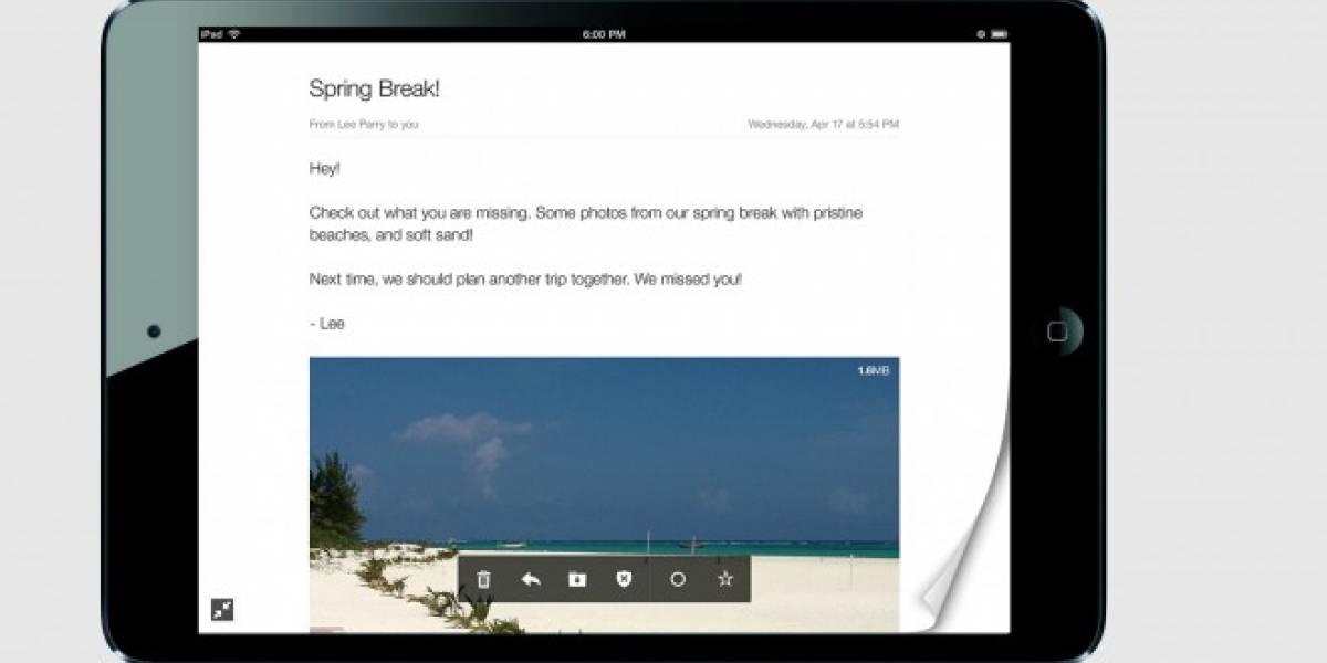Yahoo lanza nueva app de correo para tablets