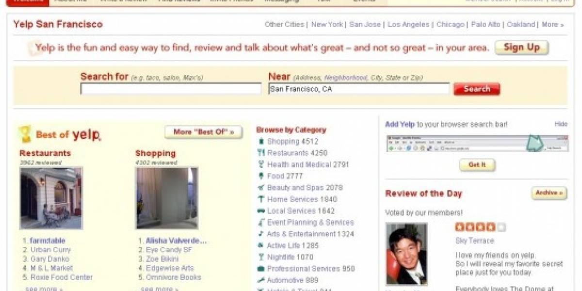 Yelp rechaza ser comprado por Google