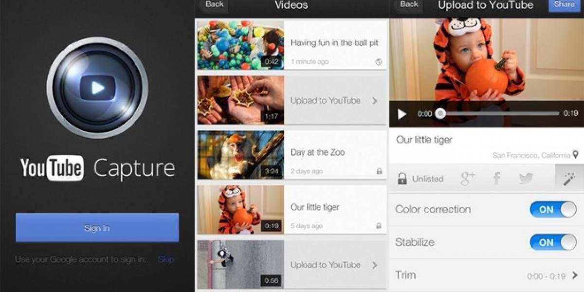 YouTube lanza aplicación para grabar y arreglar videos en iOS