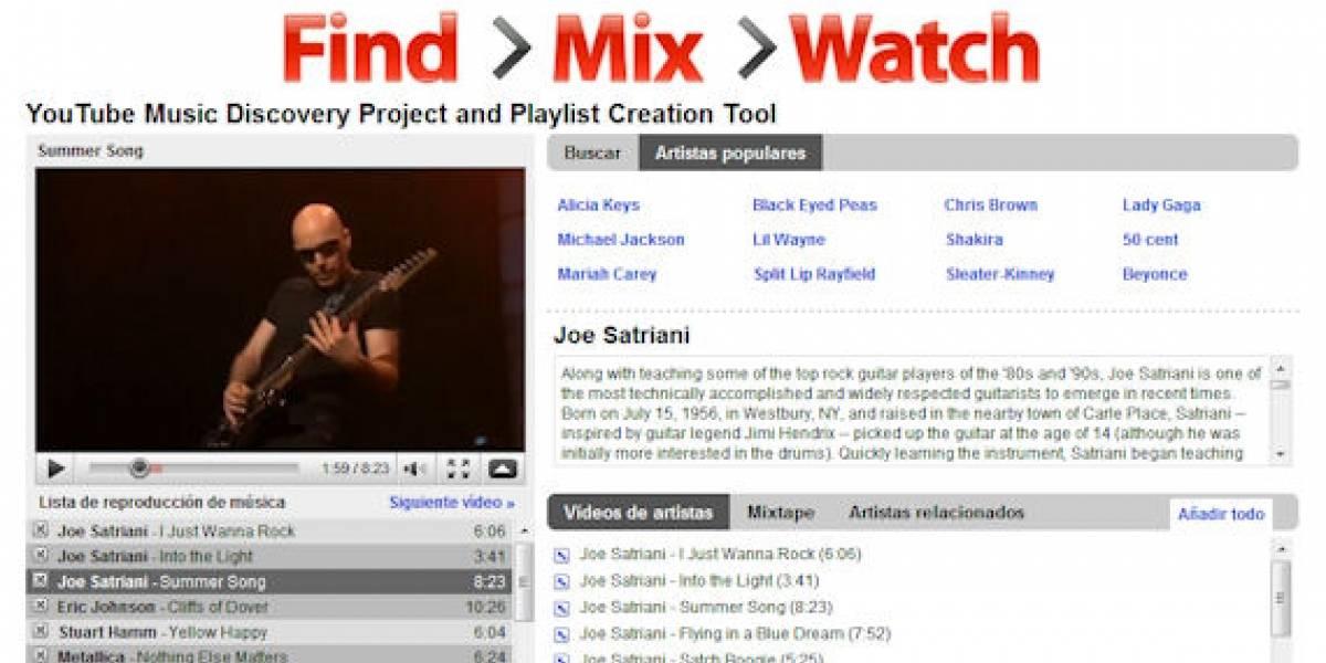 YouTube Disco: Música en línea al estilo MTV