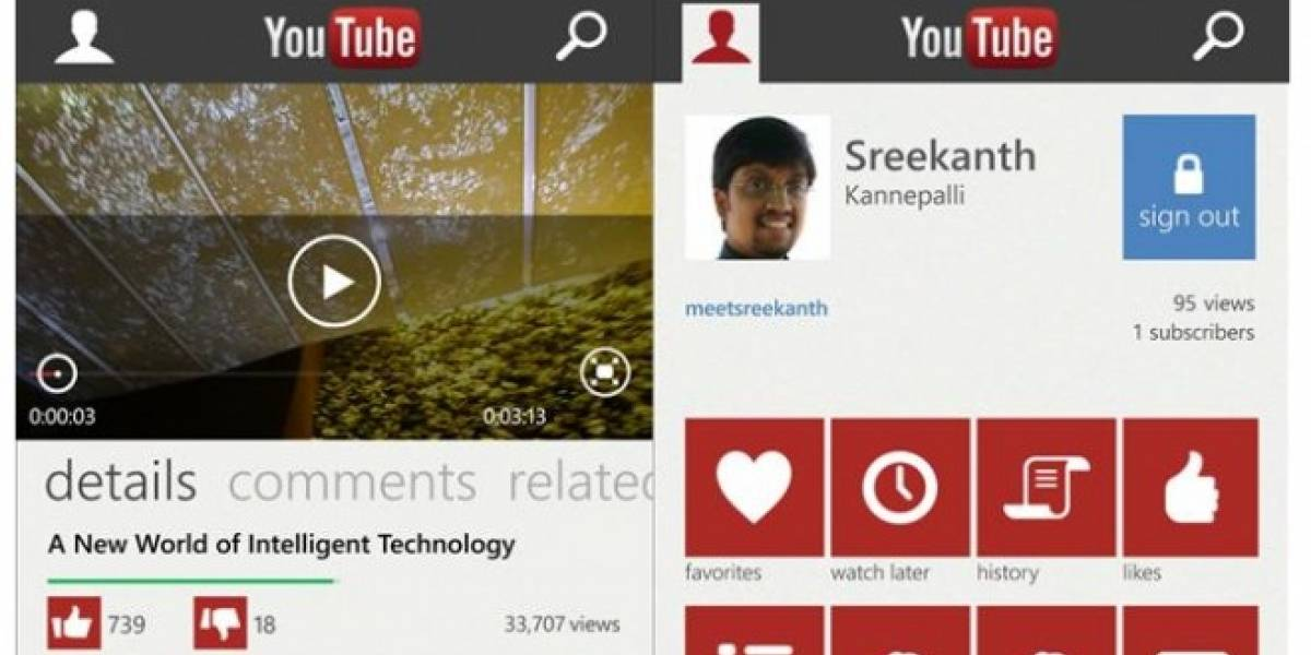 Microsoft finalmente modifica la app de YouTube para WP8 al gusto de Google