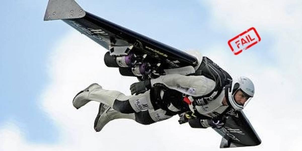 Yves Rossy, el hombre cohete, se estrella al intentar hacer un vuelo intercontinental