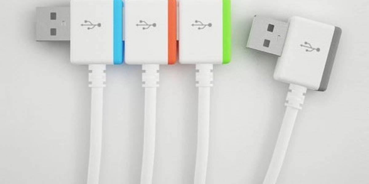 Diseñador inventa concepto de conexión USB infinita