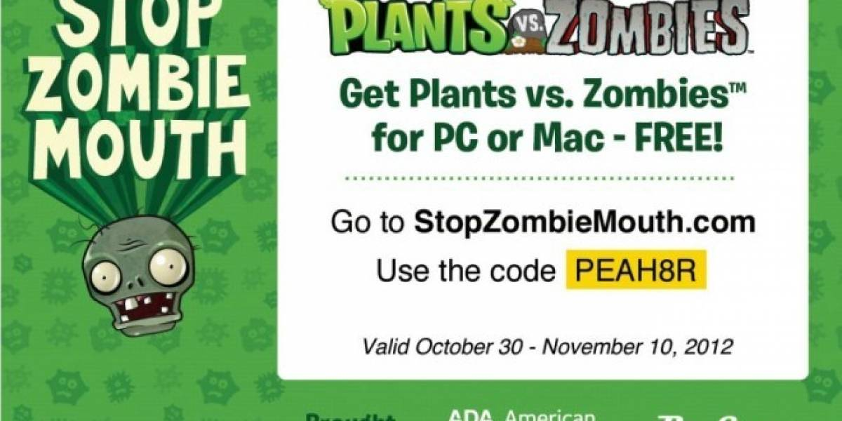 Sitio de dentistas está regalando Plantas versus Zombies