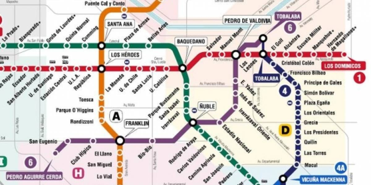 Chile: Santiago contará con una nueva línea de Metro