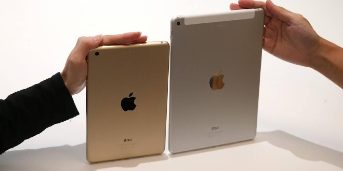 Tabla comparativa del iPad Air 2 y iPad Mini 3 vs otros tablets con Android