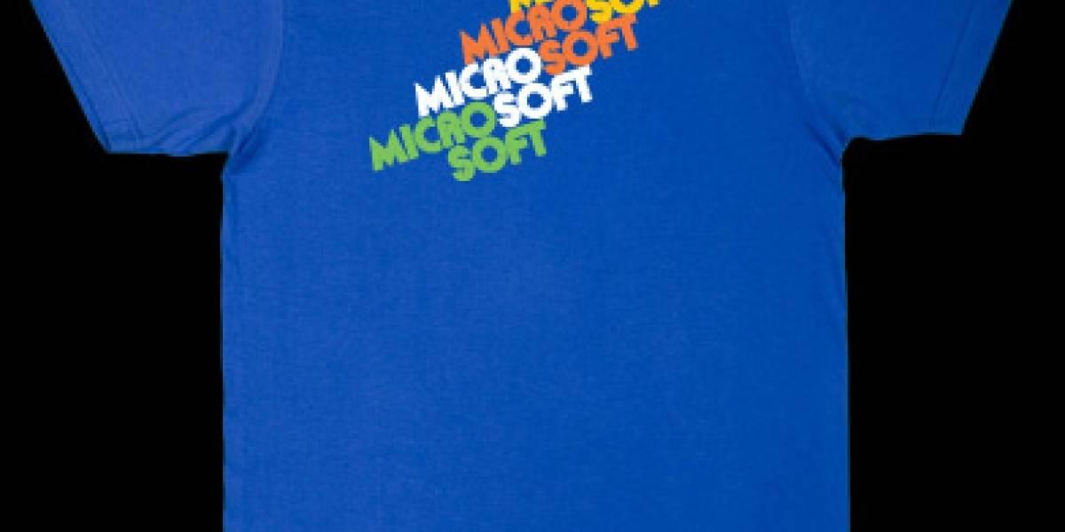 Microsoft lanza poleras para geeks ochenteros