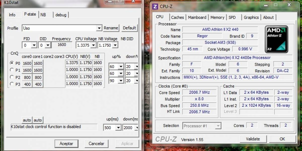 ¿Cómo consumir menos energía con Phenom II y Athlon II?