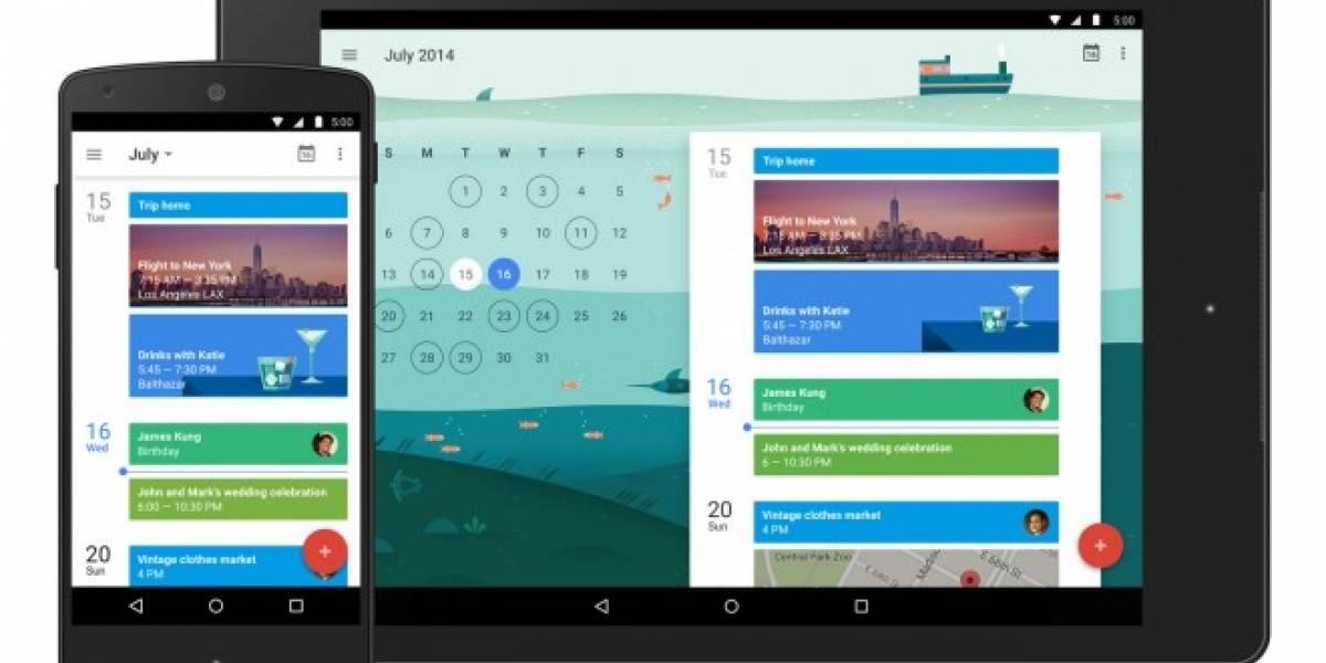 Google Calendar recibe material design en su última actualización