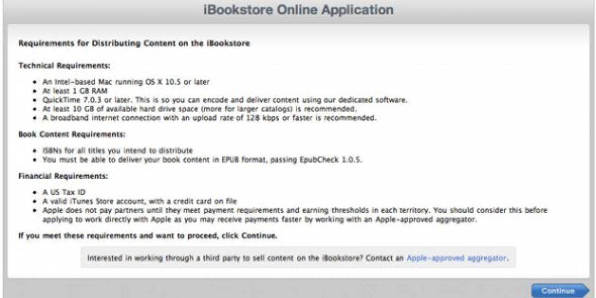 Apple abre la iBook Store para escritores independientes