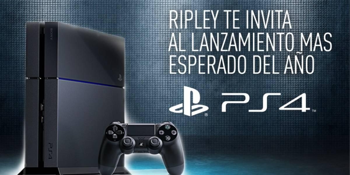 Ripley celebará lanzamiento de PlayStation 4 con exhibiciones y sorteos
