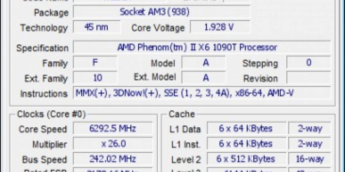 Overclockean AMD Phenom II X6 hasta los 6.29GHz
