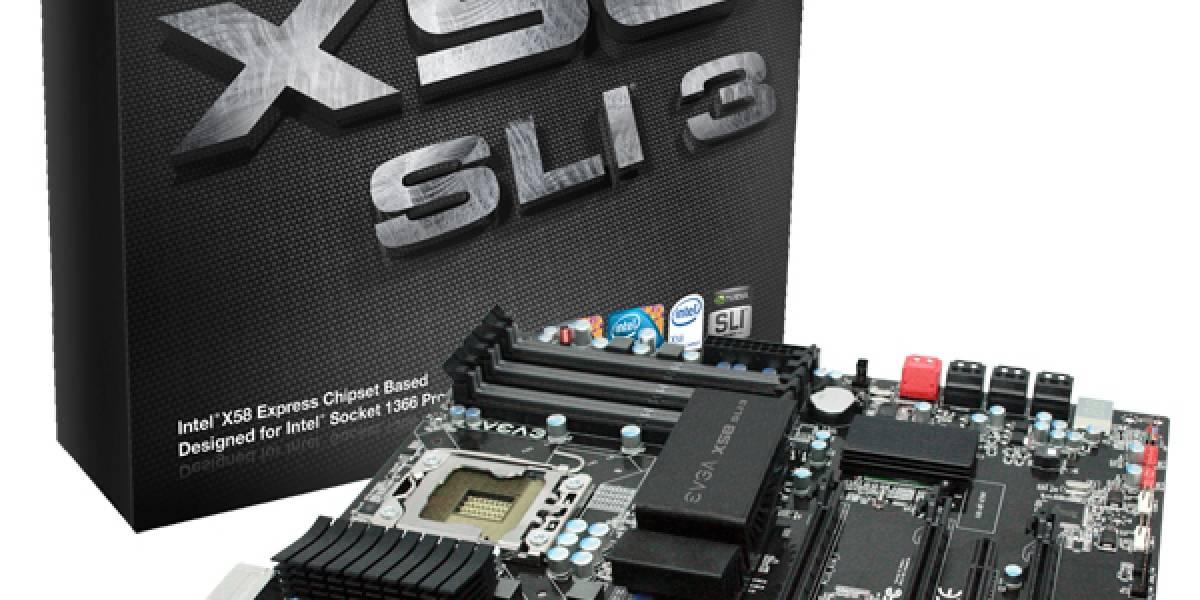 EVGA lanza X58 SLI3 a precio aterrizado