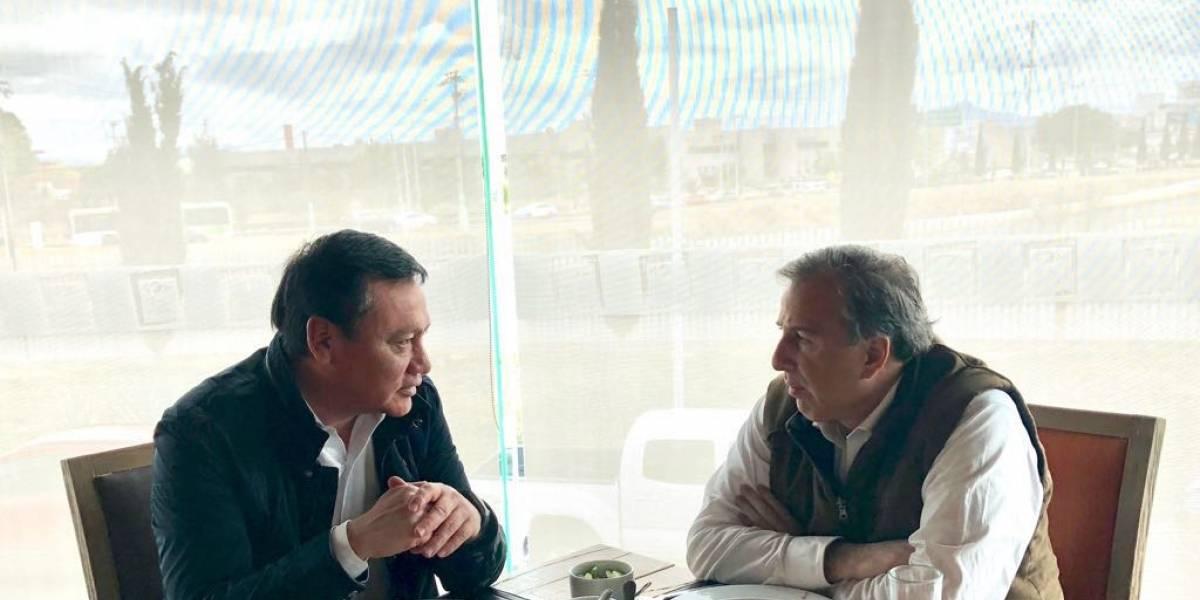 Meade se reúne con Osorio Chong en Pachuca