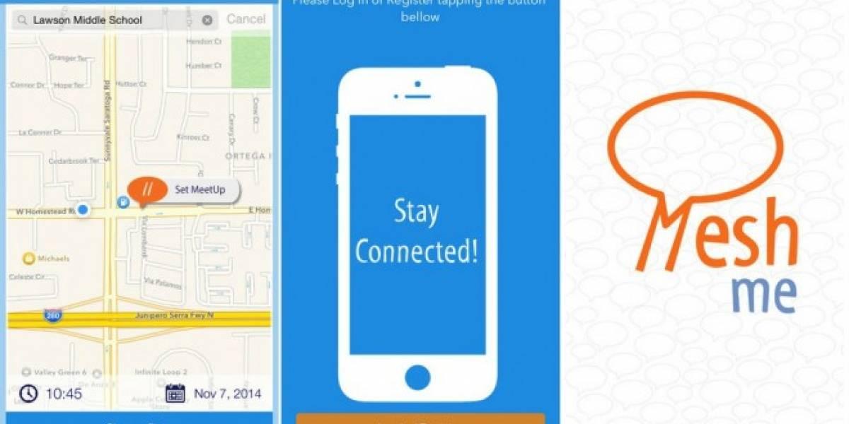 MeshMe es una app similar a FireChat para comunicarte sin conexión a Internet