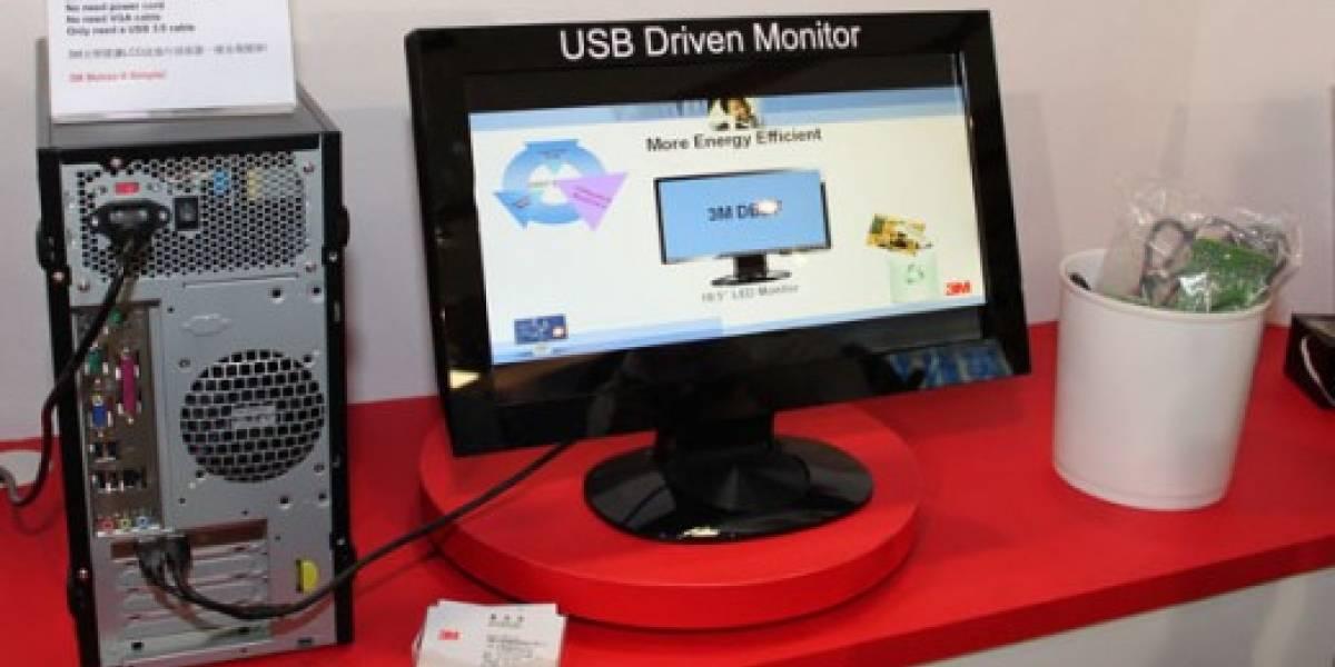 3M desarrolla primer monitor alimentado sólo por USB 3.0