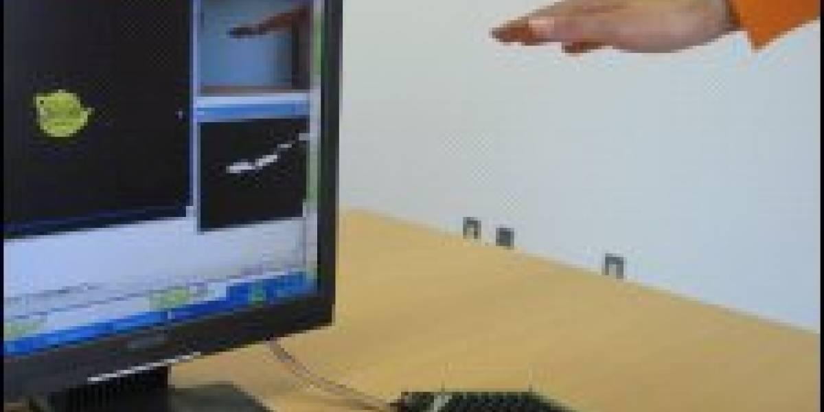 Pantalla táctil de ultrasonidos para manipular y sentir objetos virtuales