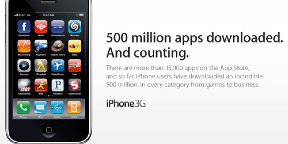 Ya van 500 millones de descargas y 15 mil aplicaciones para el iPhone