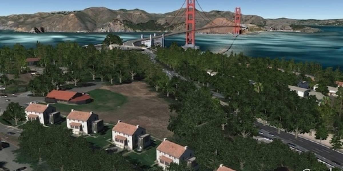 Google Earth 6 presenta integración con Street View y arboles en 3D