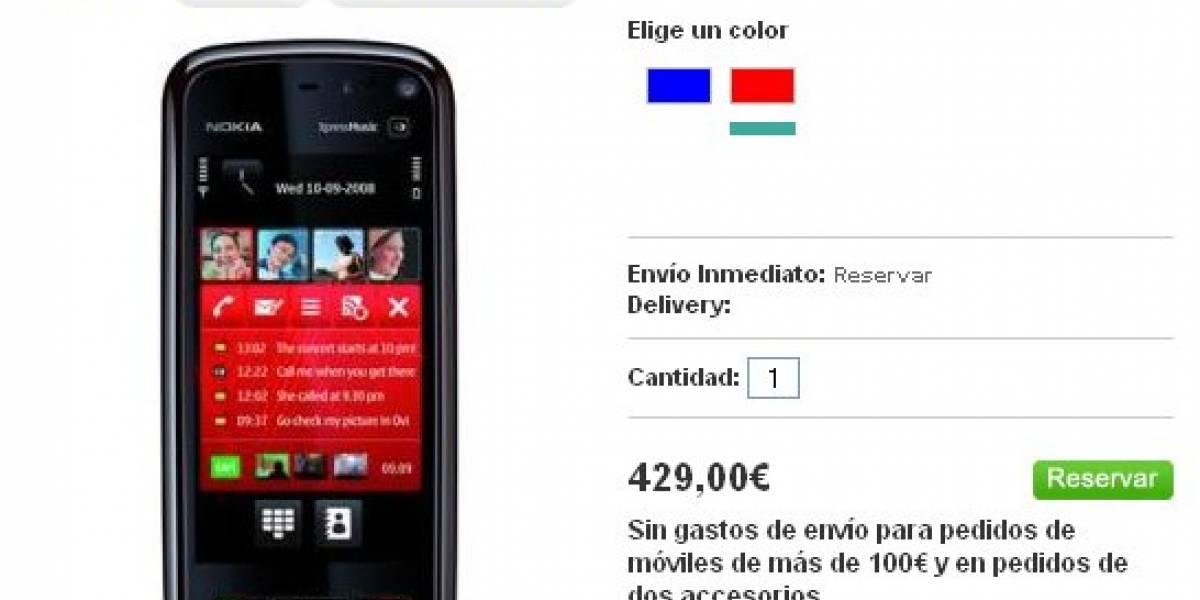 Nokia 5800 XpressMusic un 54% más caro de lo que creíamos