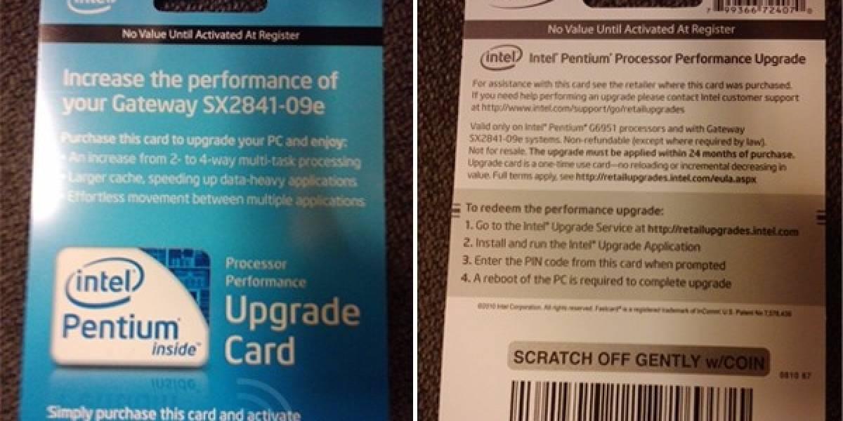 Intel Pentium G 6951: Unlock a Pentium G 6952 por $50