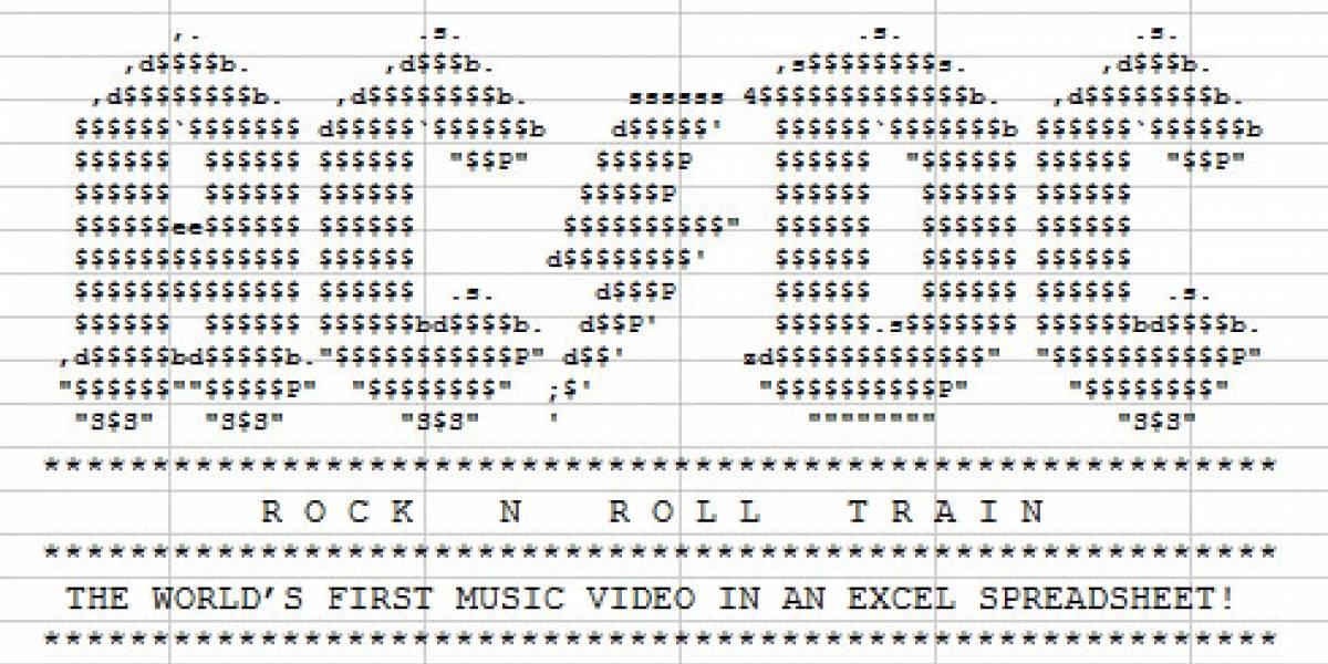 AC/DC presenta un video hecho en Excel