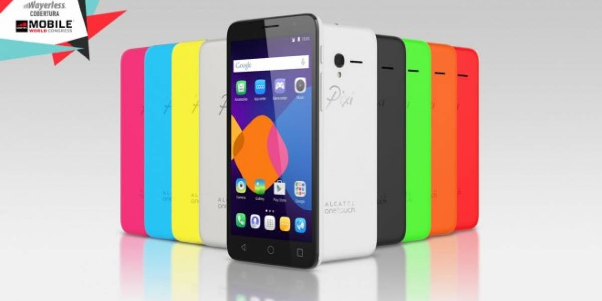 Alcatel OneTouch lanza su smartphone y tablets PIXI 3 #MWC15