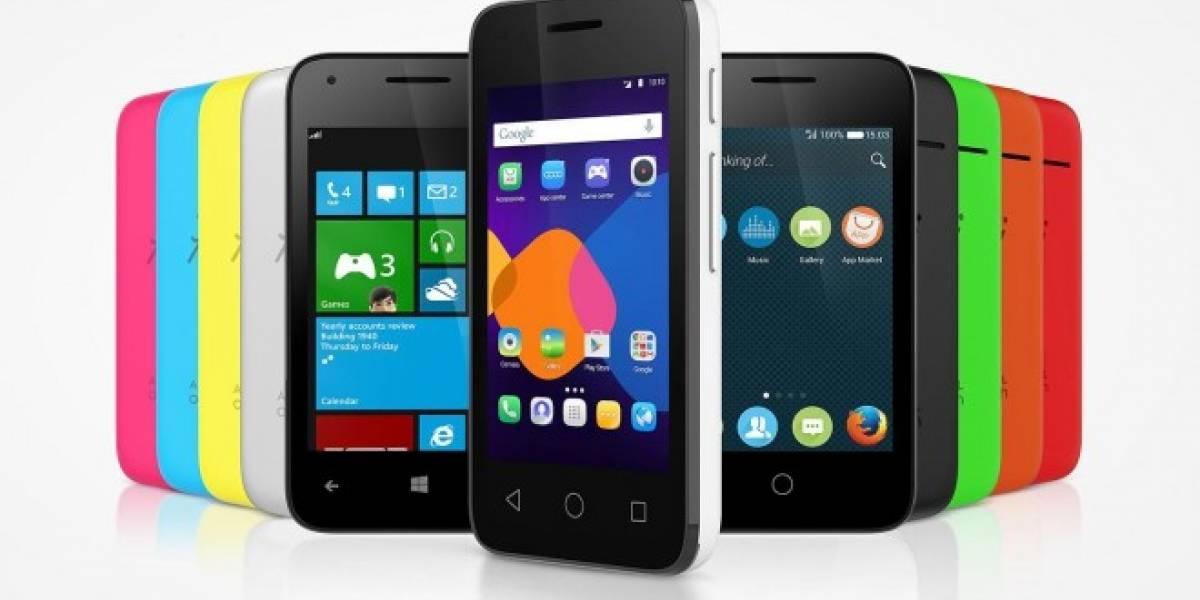 Alcatel One Touch PIXI 3, un teléfono compatible con tres sistemas operativos #CES2015