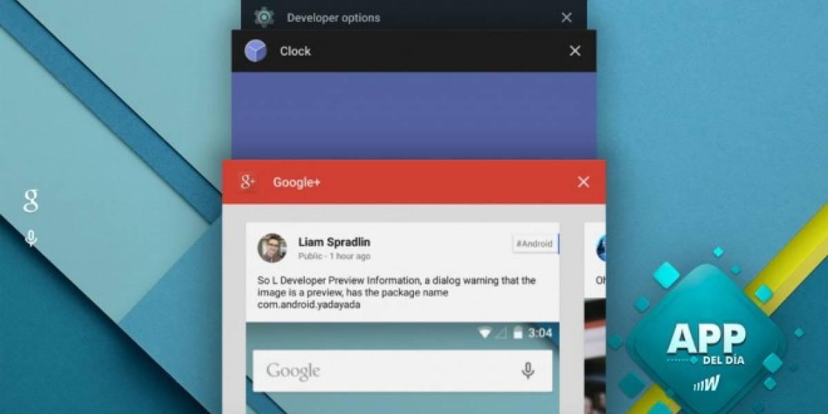 Consigue el menú recientes de Android 5.0 con Fancy Switcher