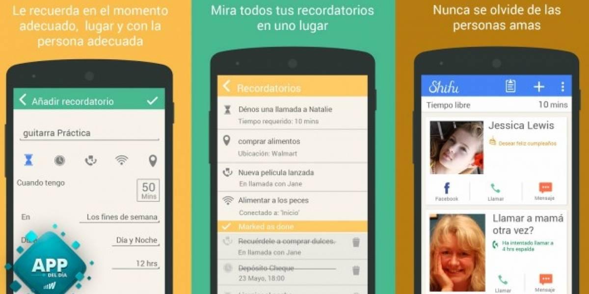 Shifu es una lista de tareas que te sugiere actividades en tu tiempo libre [App del día]