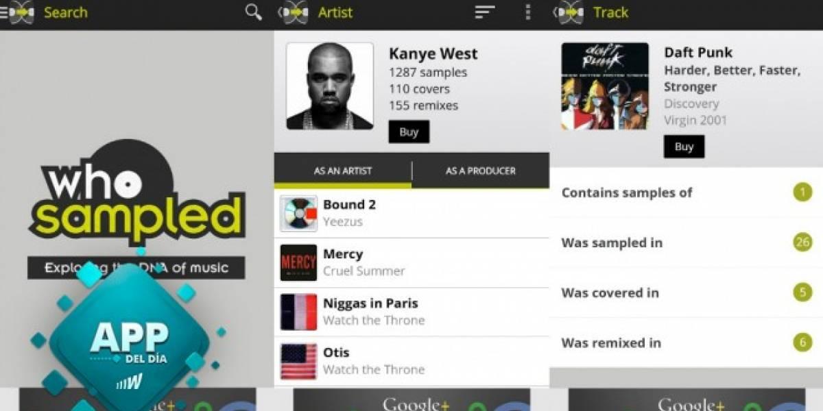 WhoSampled te indica de que canción proviene un determinado sampleo [App del día]