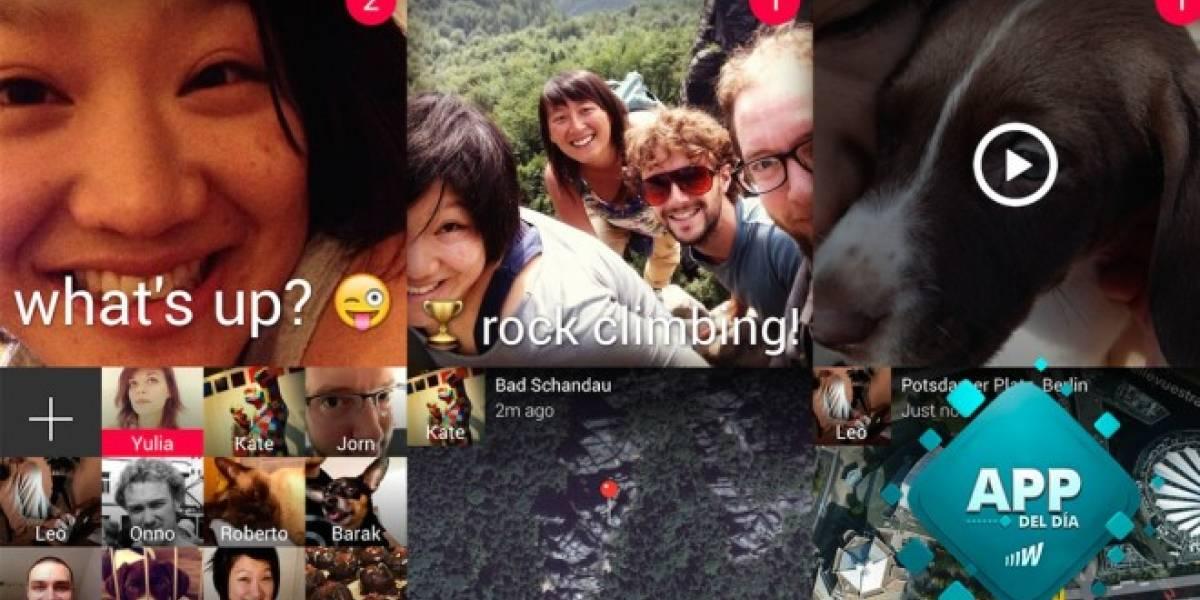 Envía fotos o vídeos rápidos a tus contactos con Taptalk [App del día]