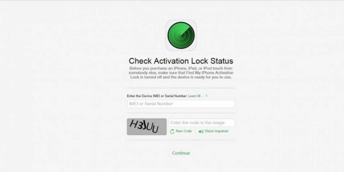 Apple ahora te ayuda a verificar si un iPhone es robado