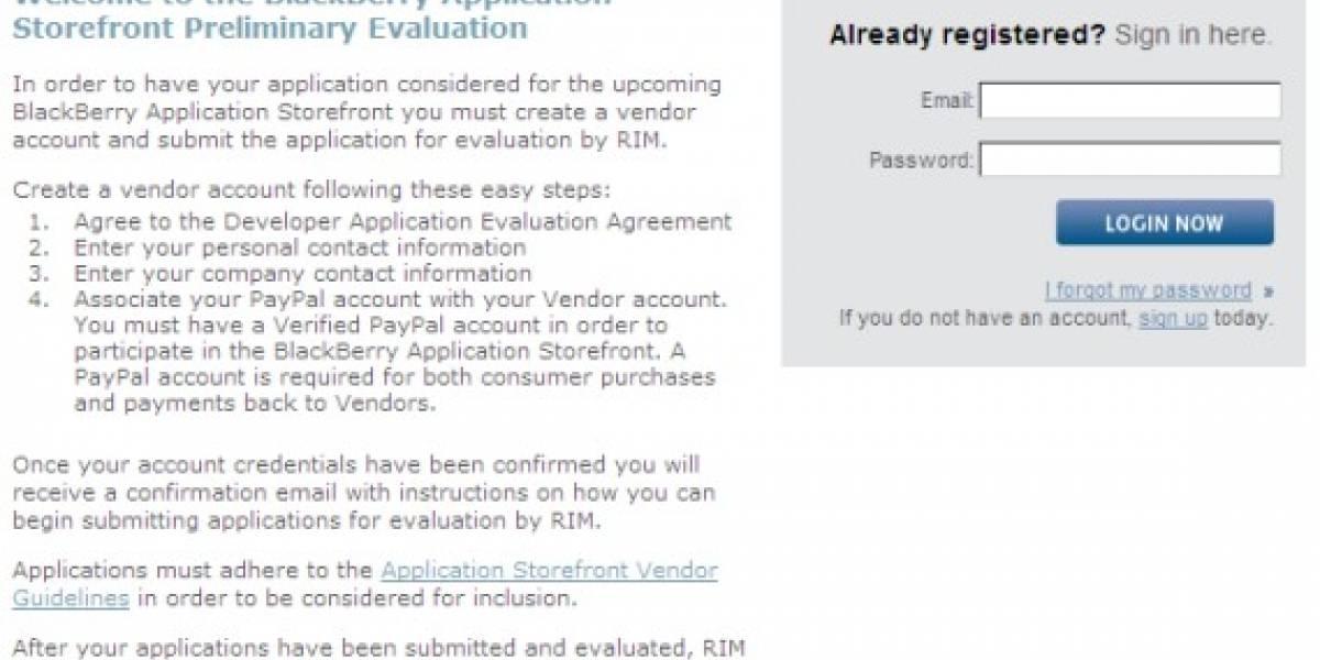 Ya se pueden subir aplicaciones al BlackBerry Application Storefront